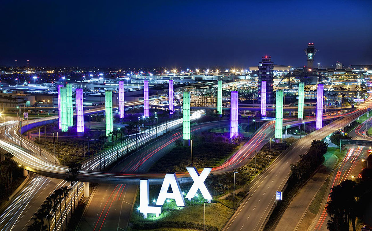 Los Angeles International Airport at night