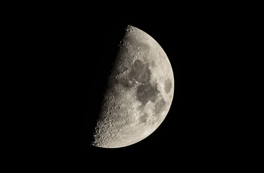 half moon from my front porch