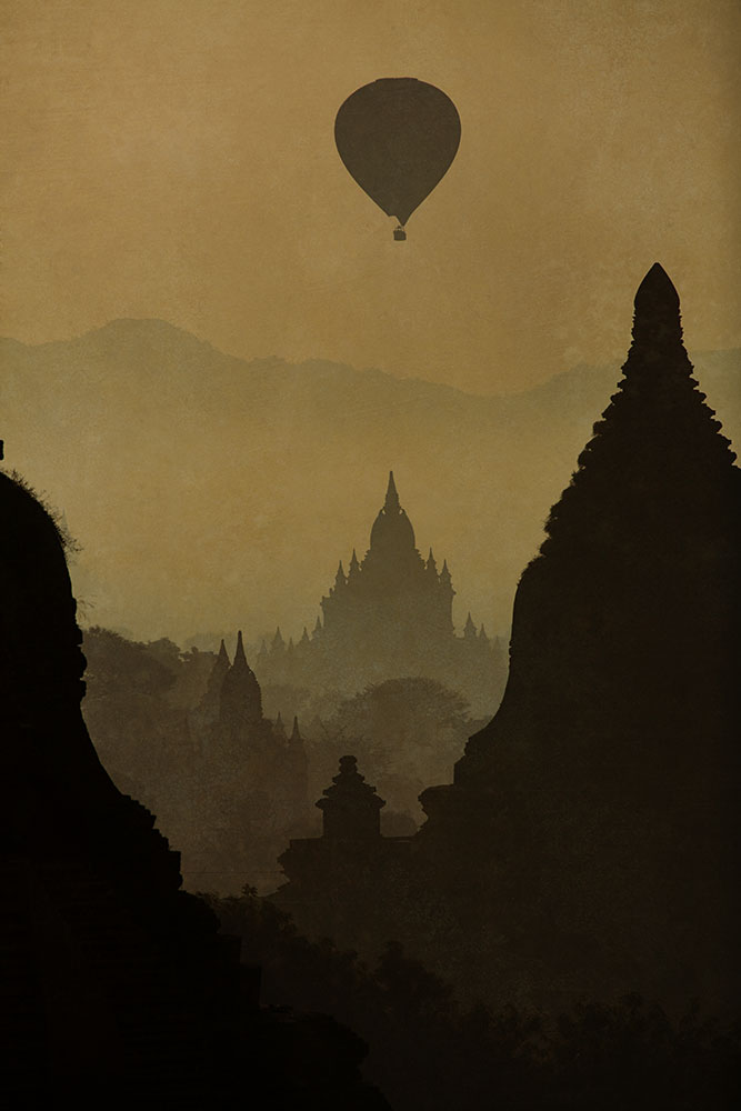 Early morning in the town of Bagan, Burma