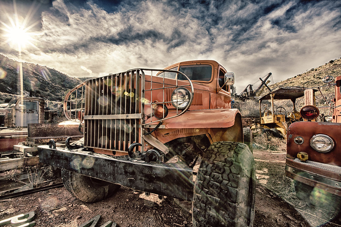 shooting hdr up in the town of jerome