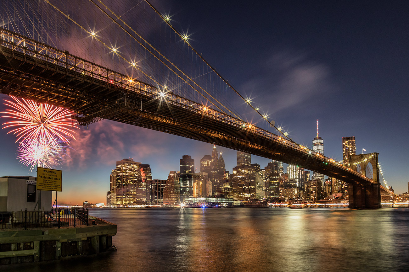 The amazing Brooklyn Bridge in NYC
