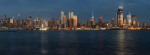 Panorama of NYC skyline at sunset