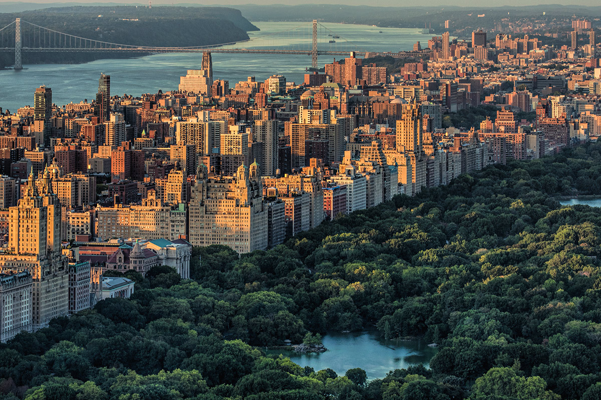 Manhattan and Central Park from above