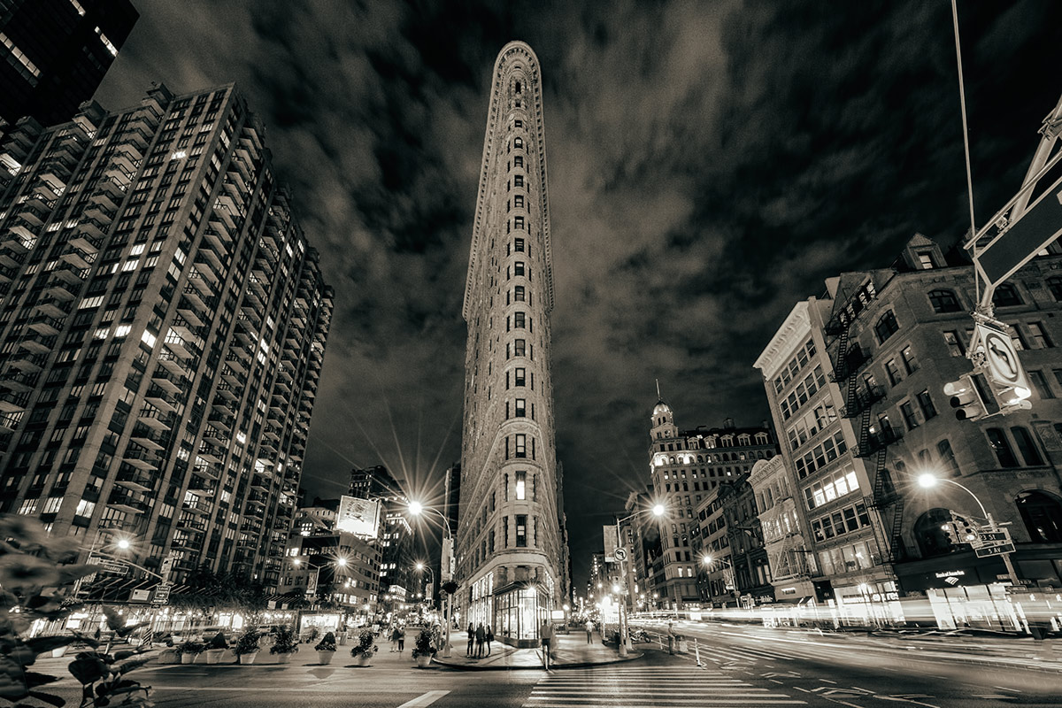 The Flatiron Building after dark