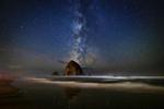 The Milky Way over Haystack Rock