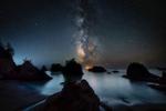 The Milky Way over stunning Secret Beach