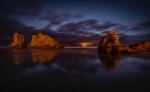 After dark on Bandon Beach, Oregon