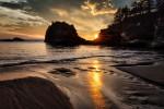 Secret Beach at sunset