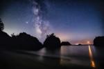 The Milky Way over Secret Beach