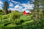 My favorite barn and garden in the Palouse