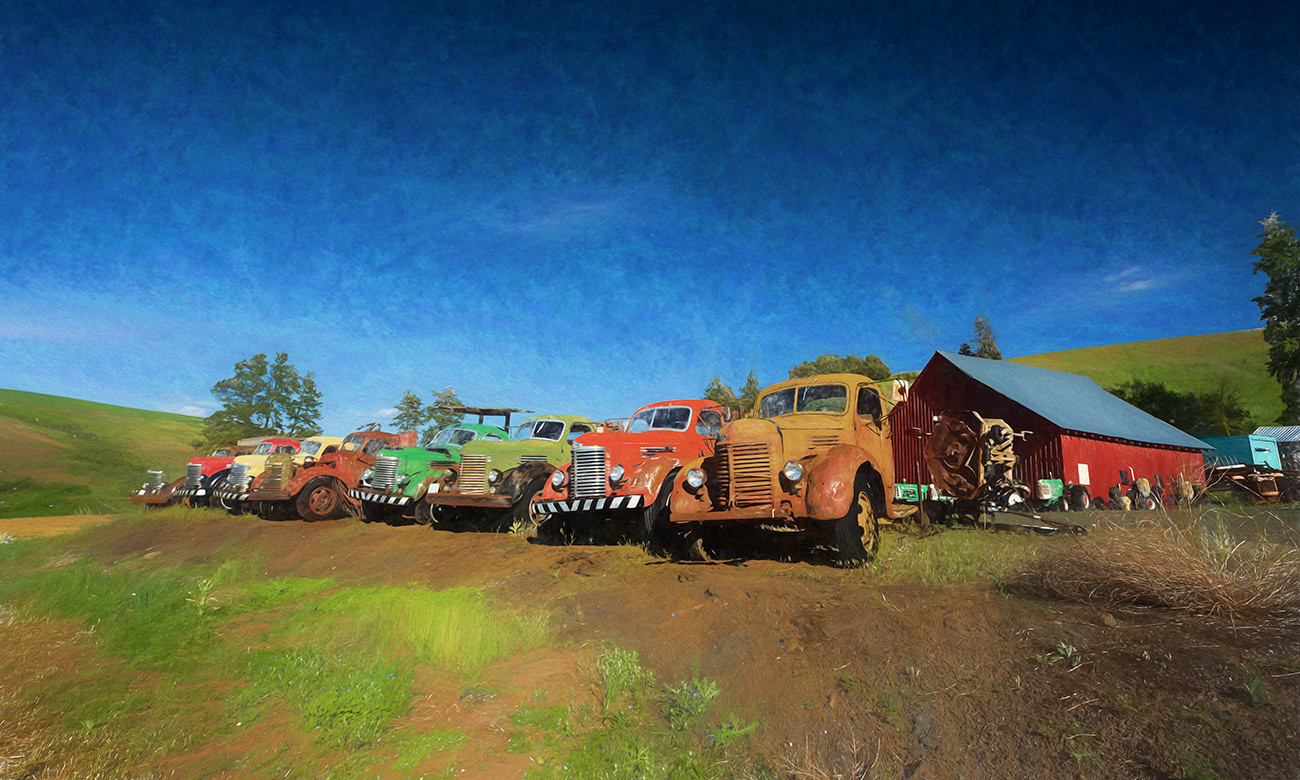 Russ and Vickies' old International trucks