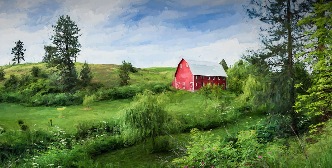 palouse_red_barn_painting