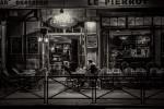 Paris cafe after dark