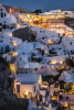 Twilight in Oia in Santorini, Greece
