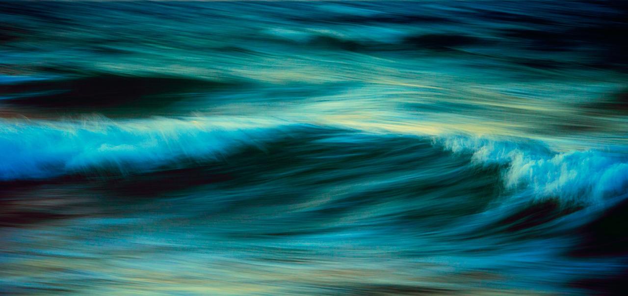 The beautiful waves of Naxos, Greece