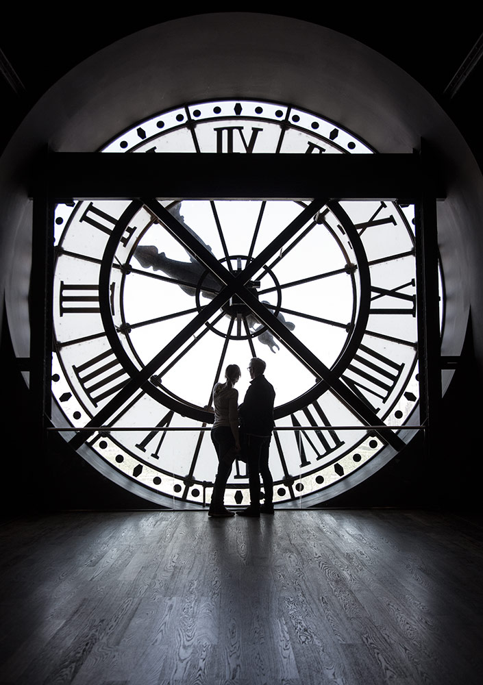 The clock in the Musee d'Orsay