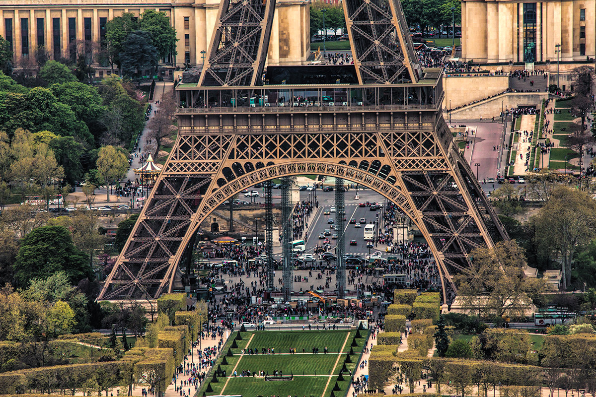 Eiffel Tower, Paris, France, April 2014
