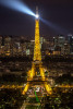 Eiffel Tower after dark, Paris, France
