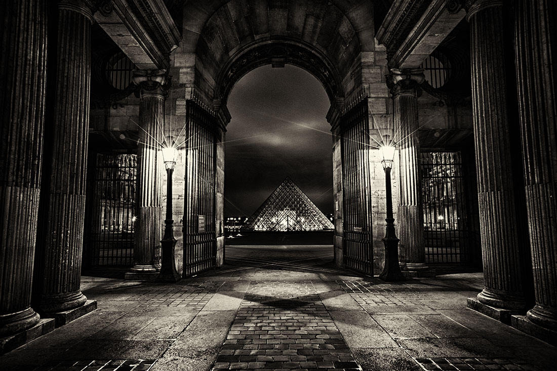 The Louvre after dark, Paris