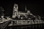 The Notre Dame Cathedral at night
