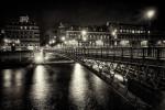 The gorgeous bridges at night, Paris, France