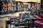The view from the Rialto Bridge in Venice
