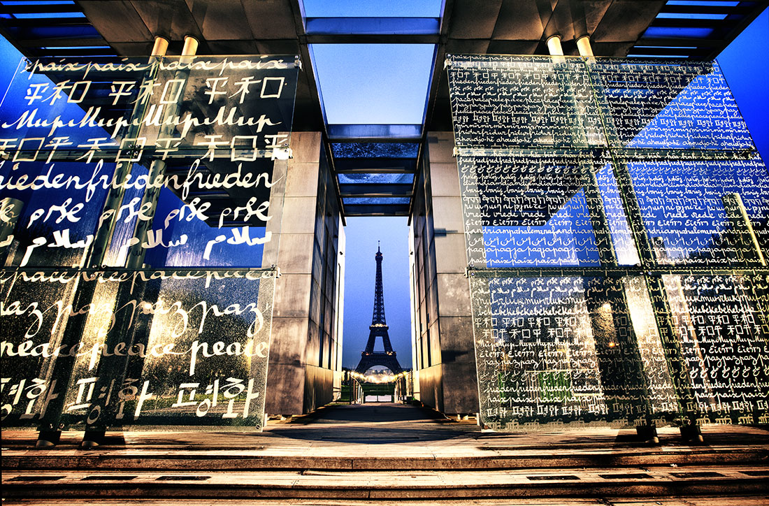 The Peace Memorial by the Eiffel Tower