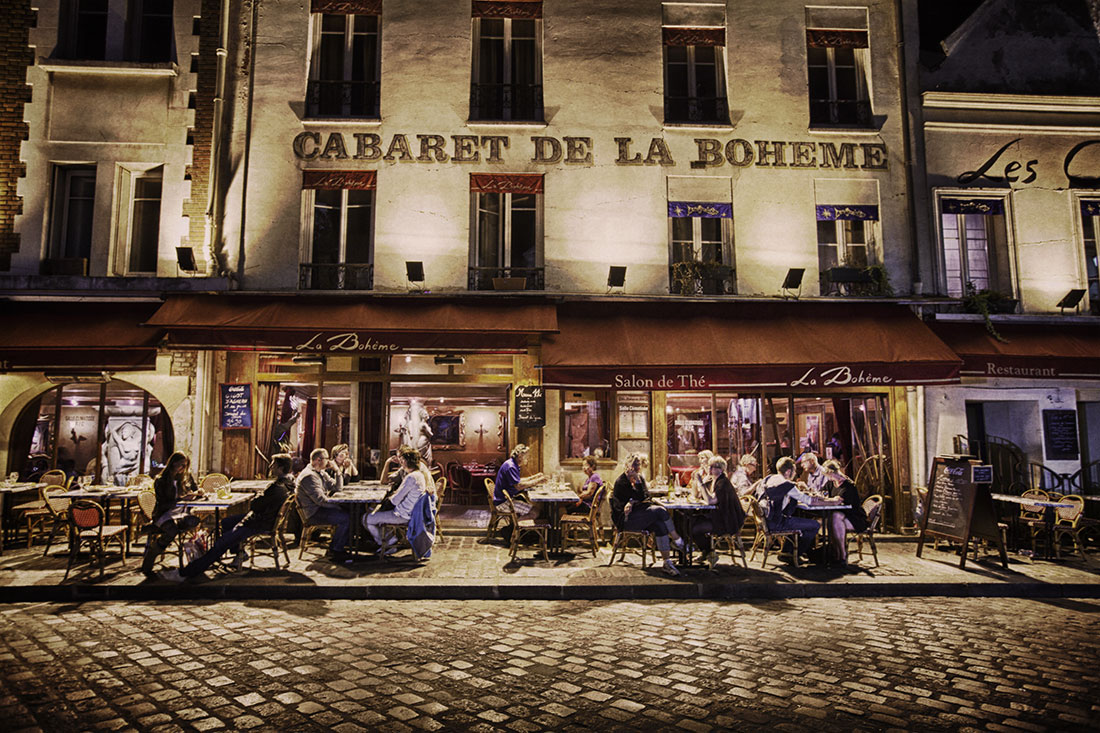 Montmartre at night, Paris