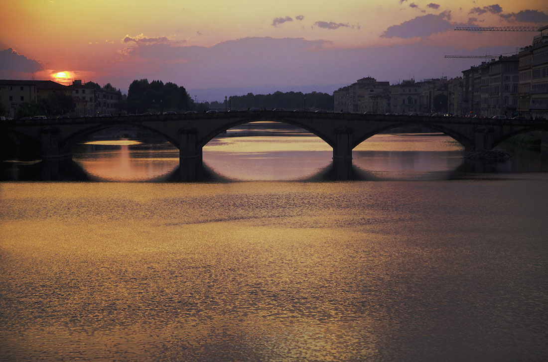 Florence, Italy at dusk