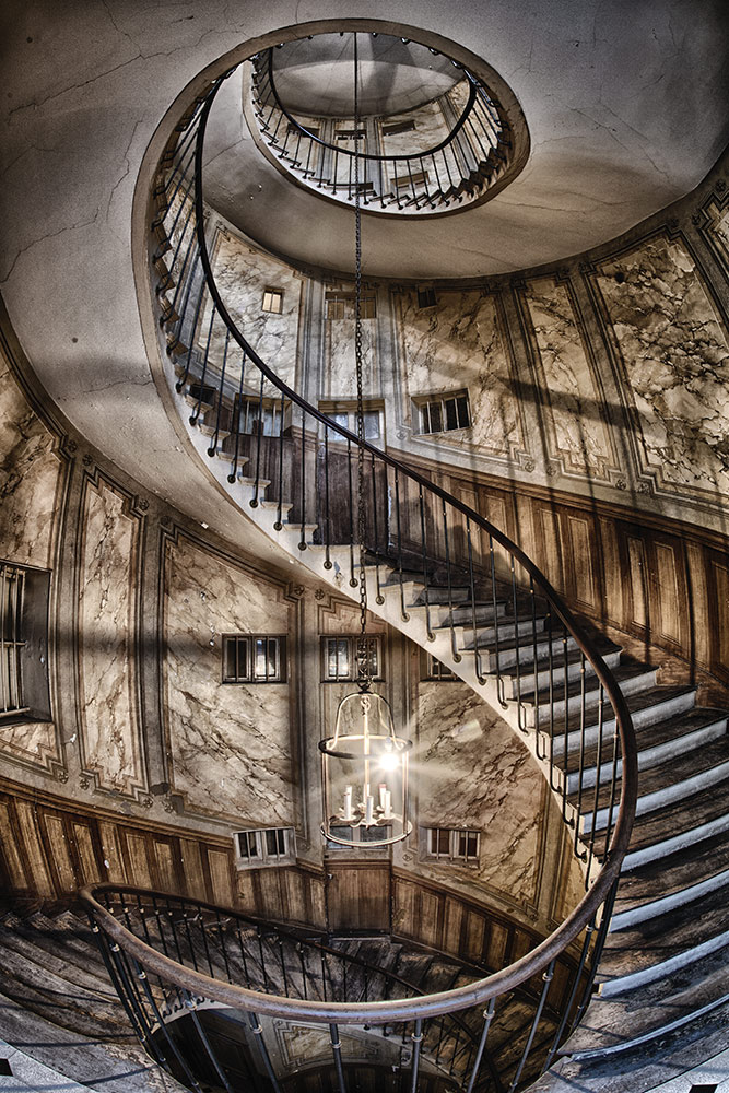 Spiral staircase, Paris
