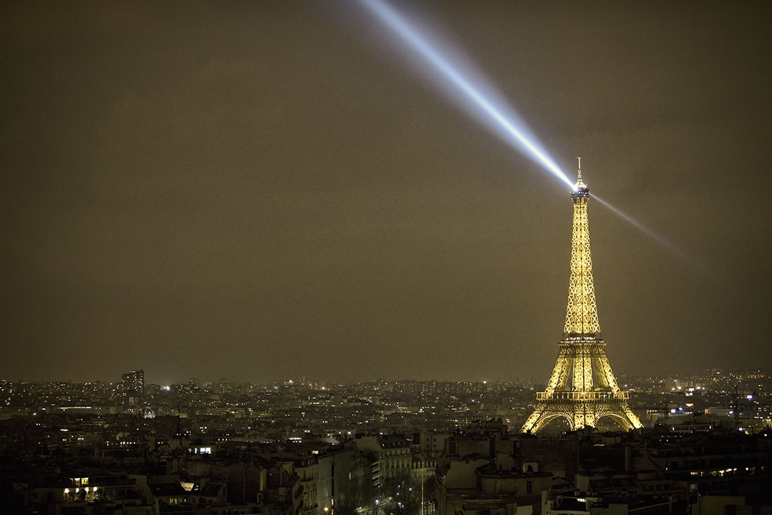 Eiffel Tower after dark