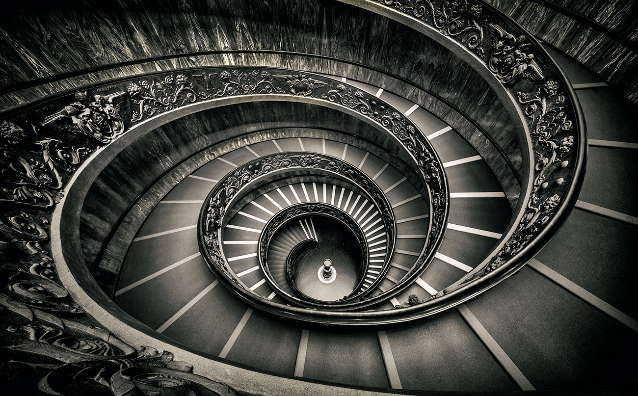 The Momo spiral staircase in the Vatican