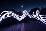 painting with light in front of our home in Sedona