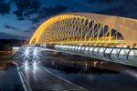 The new futuristic Troja bridge in Prague