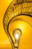 the lightbulb spiral staricase in Prague