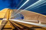 The futuristic Troja Bridge in Prague