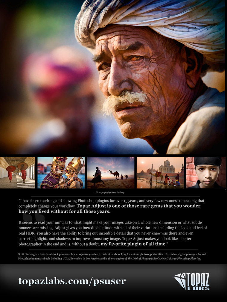 Ad for Topaz Labs in Photohop User Magazine