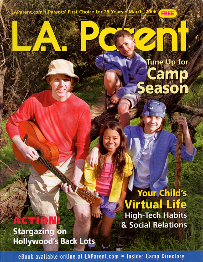 Cover for LA Parent Magazine