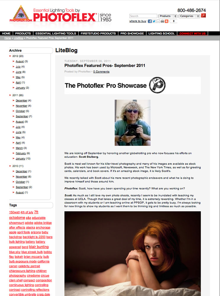 Lighting article for Photoflex website