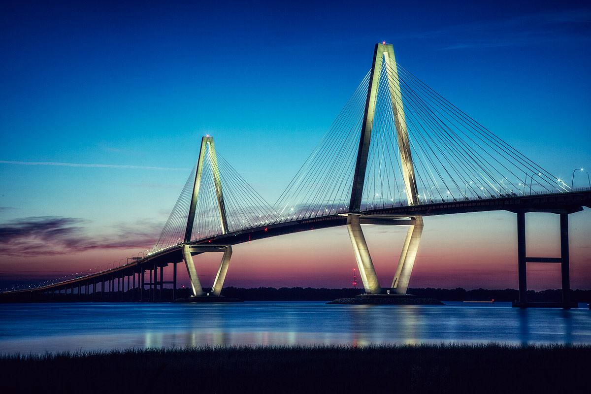 The Arthur Ravenel Jr. Bridge in Chrleston, SC.
