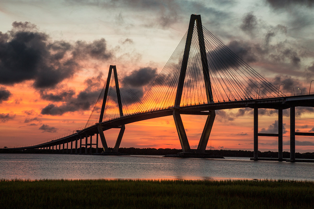 The Arthur Ravenel Jr. Bridge in Chrleston, SC.The