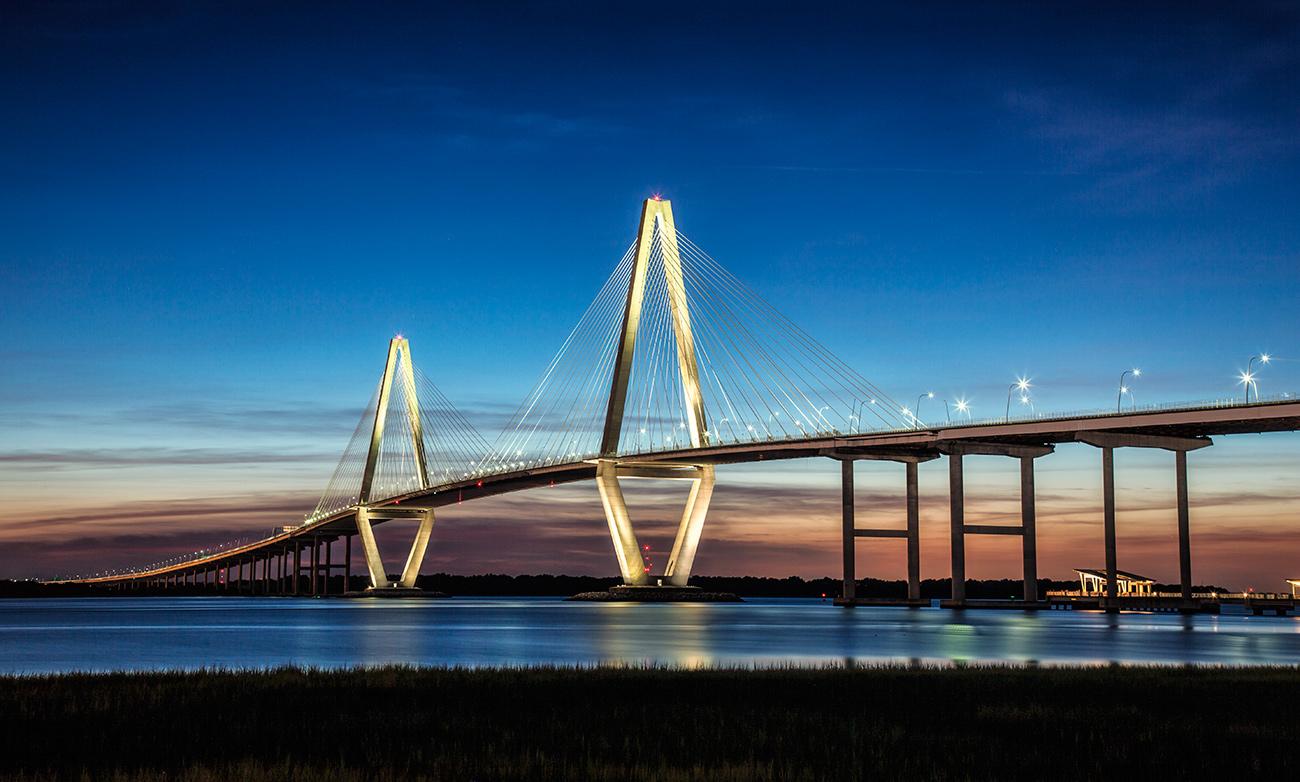 The Arthur J. Ravenel Jr. Bridge in Charleston, SC