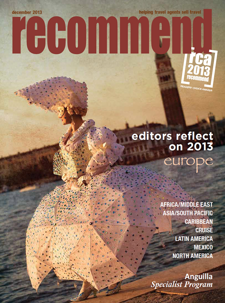 Cover for Recommend magazine in Venice, Italy