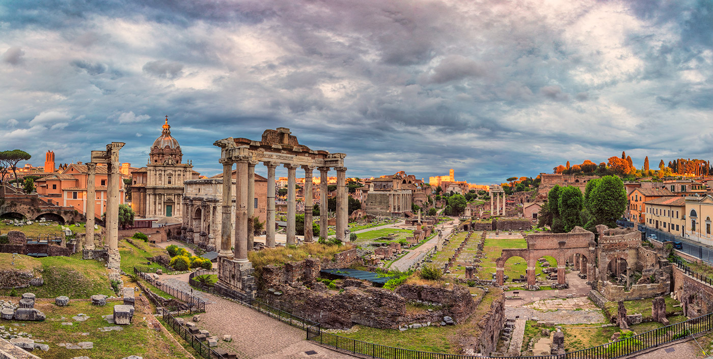 The Roman Forum at sunset