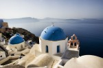 Blue Domed Churches of Santorini, Greece