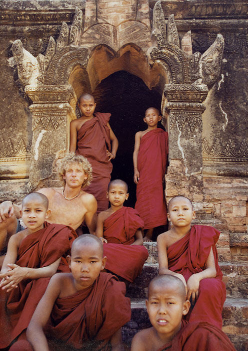 At the temples in Pagan, Burma