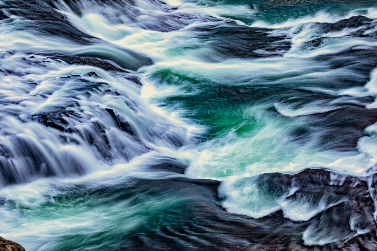 Rushing water of Gullfoss Waterfall in Iceland