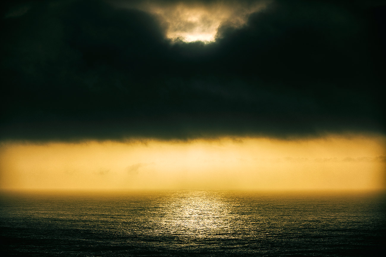 Moody sunset over the ocean  in Malibu