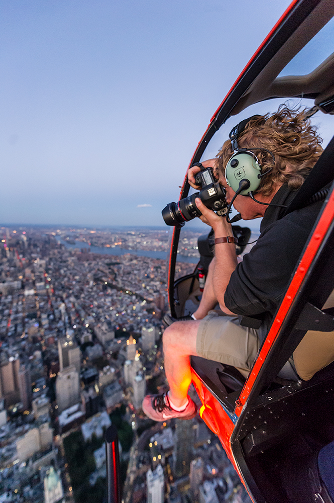 Shooting New York from above