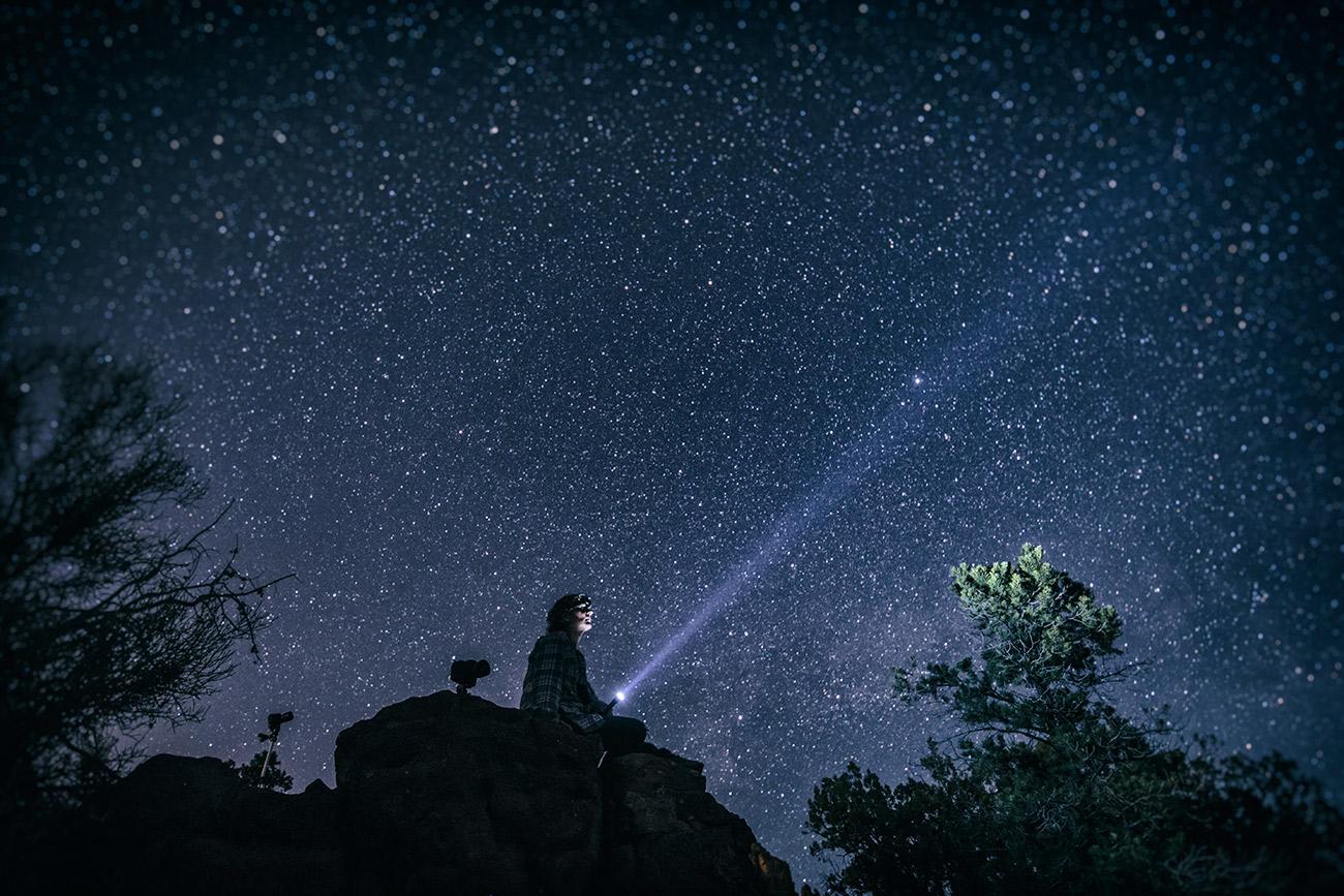 Self portrait under the stars